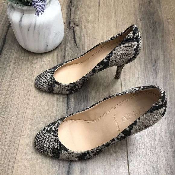 8a75cb5f75fd J. Crew Snake Skin Heels 6.5 Made in Italy 🇮🇹